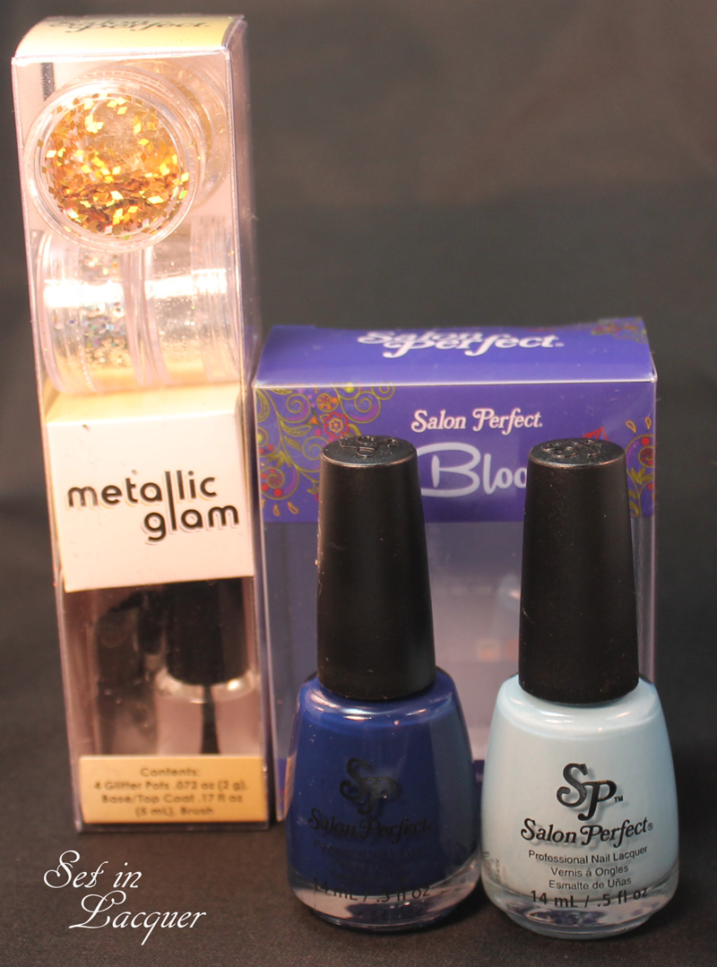 Salon Perfect Metallic Glam Nail Art Kit and In Bloom Duo #5