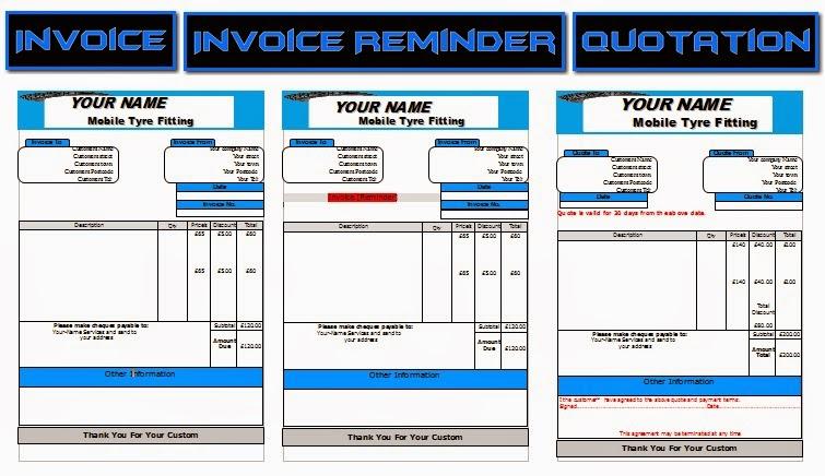 mobile tyre fitting leaflets flyer business cards business start up pack business templates forms. Black Bedroom Furniture Sets. Home Design Ideas
