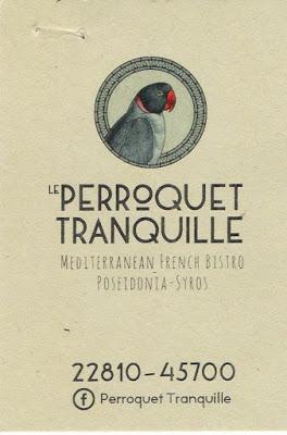 Le PERROQUET TRANQUILLE