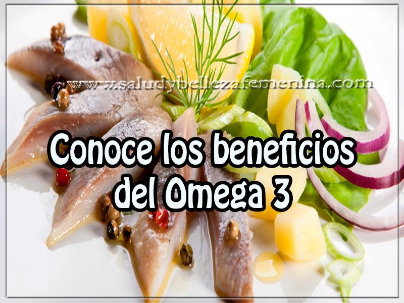 Salud  y bienestar , conoce los beneficios  del Omega 3