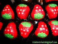 COLOURED PRA LINE STRAWBERRY CHOCOLATE