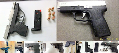 Firearms Discovered at (Top to Bottom - Left to Right)  RDU, TUL, ATL, ATL, MCO, MEM, RNO, JAN, ATL
