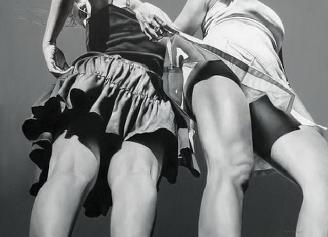 Черно-белые рисунки: Фотореалистичные рисунки маслом Марты Пентер