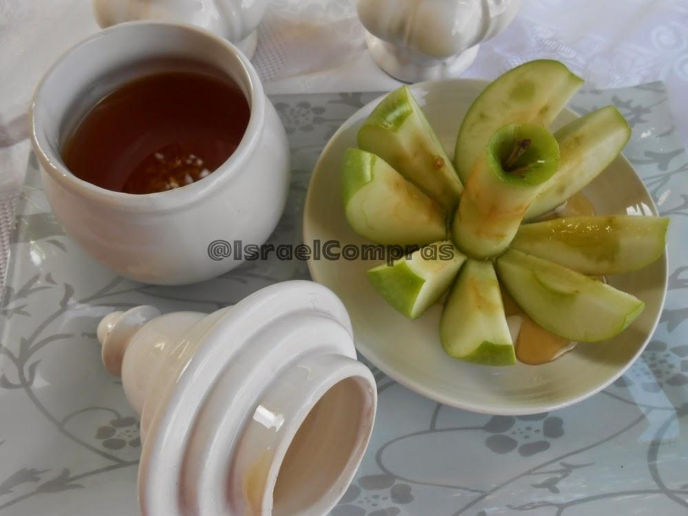 Símbolo de Ano Novo Judaico - Maçã com mel - mel - maçã- ano novo judaico