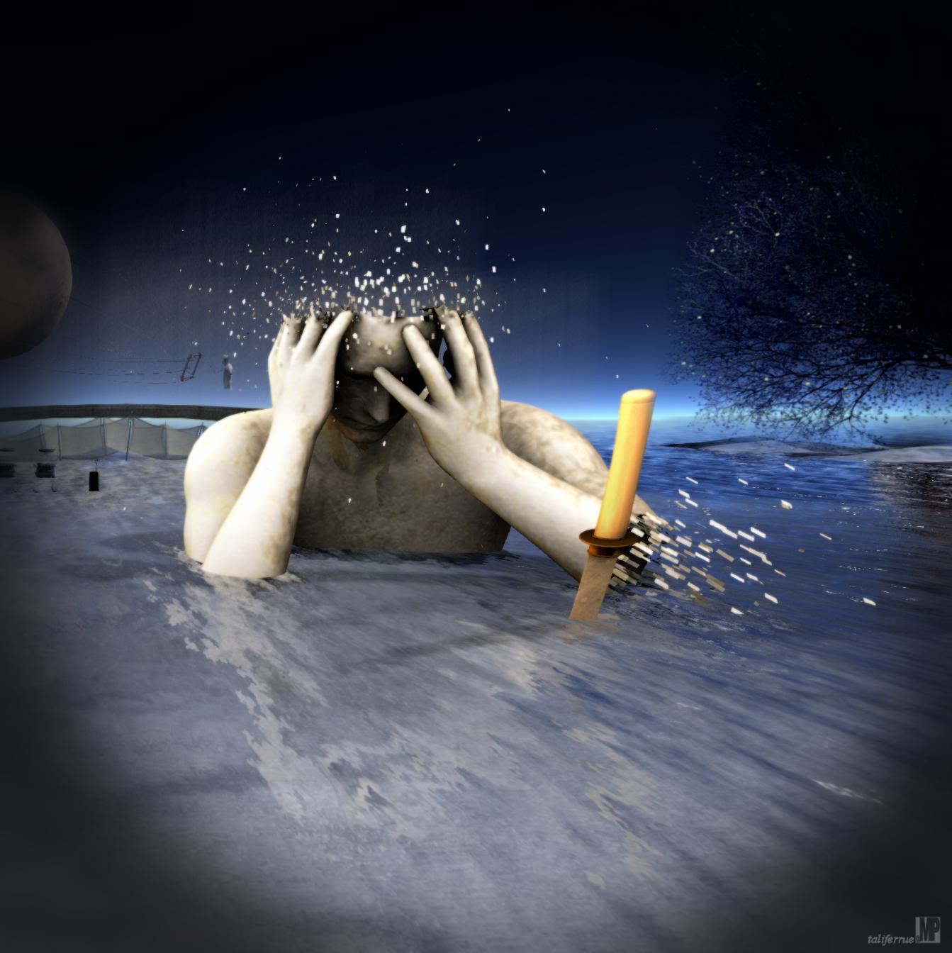 Second Life Review of Cammino e Vivo Capovolto [Digital Art Expo]