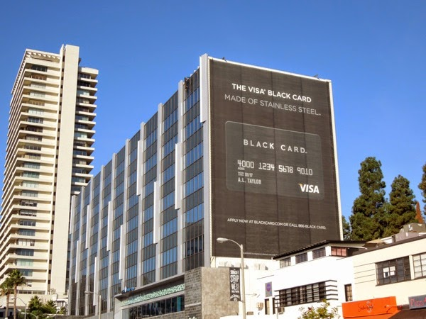 Giant Visa black card billboard