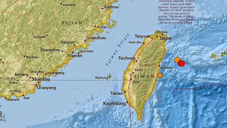 Terremoto de 6,5 grados sacude Taiwan