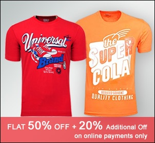 End of Season Sale: Flat 50% Off On Yepme TShirts + 20% Additional Saving on making Online Payment