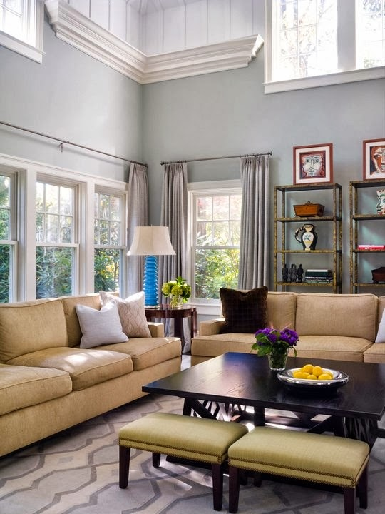A Collection Of Ideas For Decorating Two Story Walls