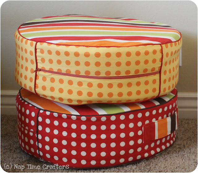 Tutorial: Toddler Floor Pillows - Peek-a-Boo Pages - Patterns, Fabric & More!
