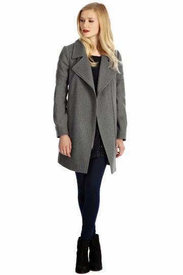 grey biker coat