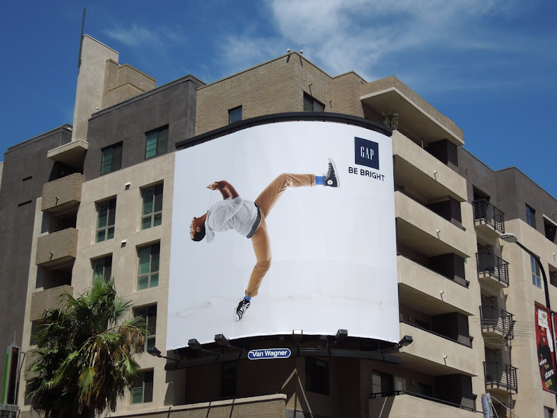 Gap Be Bright backflip billboard