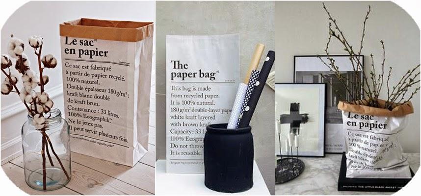 miss cosillass deco le sac en papier. Black Bedroom Furniture Sets. Home Design Ideas