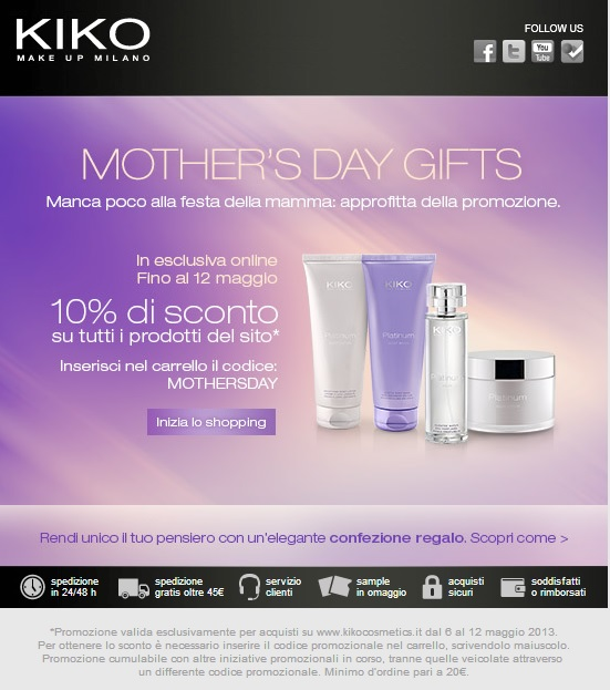 KIKO - Mother's Day Gifts 2013
