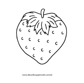 Desenhos Para Colori Moranguinho gostoso desenhar