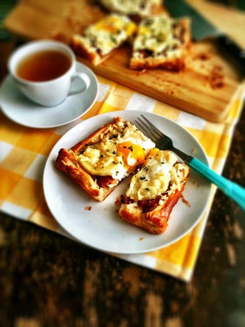 sweetsugarbean: Rise & Shine: Bacon & Egg Breakfast Tart