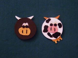 broches de vaca y toro de goma eva