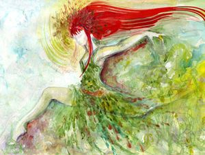 BRIGIT, CELTIC GODDESS OF FIRE, HEARTH AND INSPIRATION. PATRONESS OF WITCHES, WIZARDS AND SORCERERS
