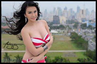 sexy barbie san miguel red bikini pics 02