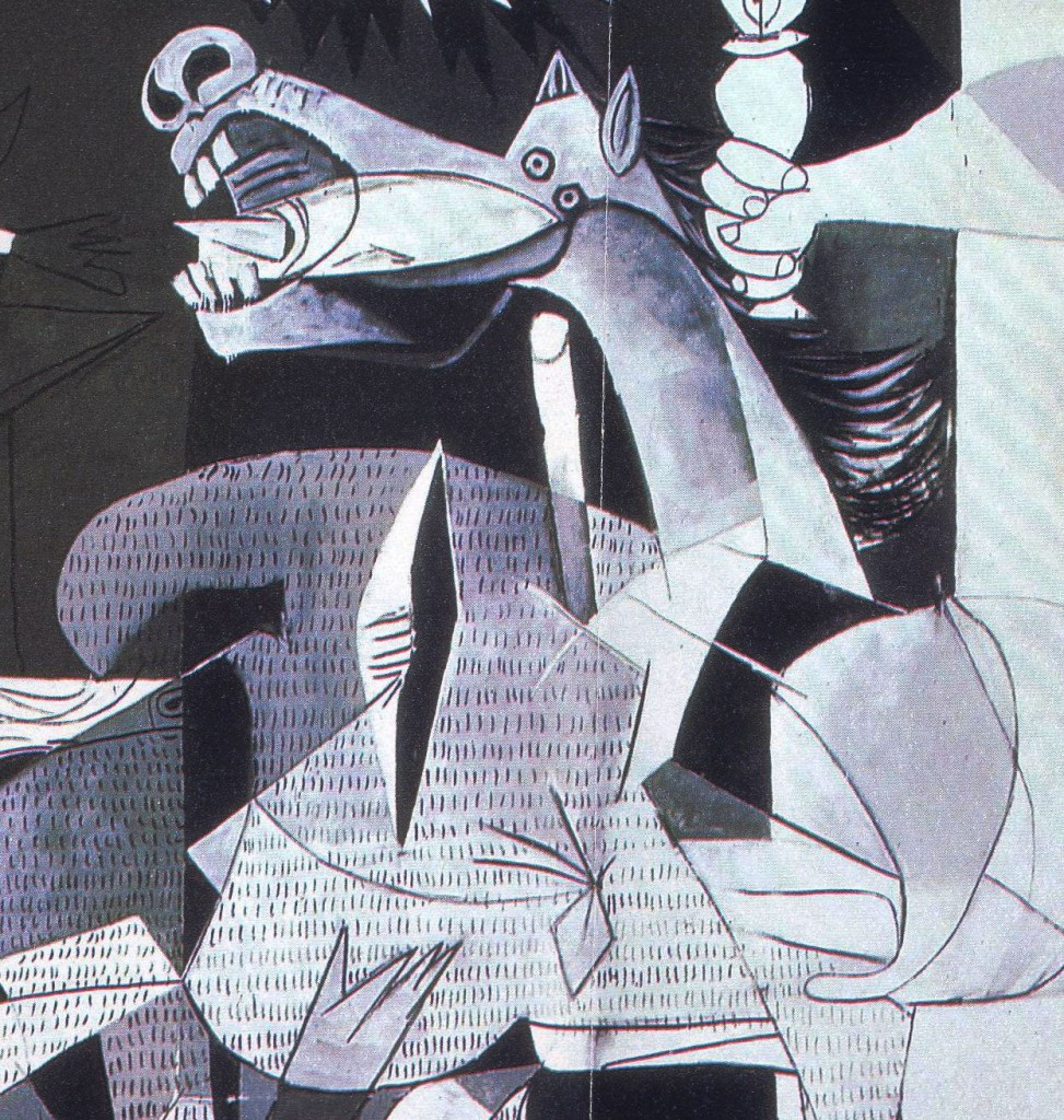 Pictiodany guernica english version another essential detail to understand in a good way the painting is hidden in the texture that picasso and dora his second lover gave to the animal body buycottarizona Gallery