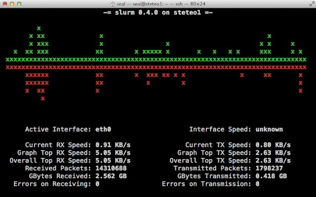 Slurm:Linux 命令列網路頻寬監控工具
