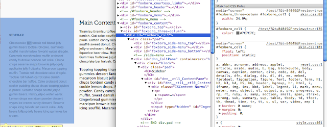 "Inspect element on one column reveals Hubspot generates code for columns with the prefix ""Foxboro_"""