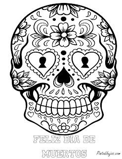 Feliz dia de muertos | mascara de calavera de dia de muertos