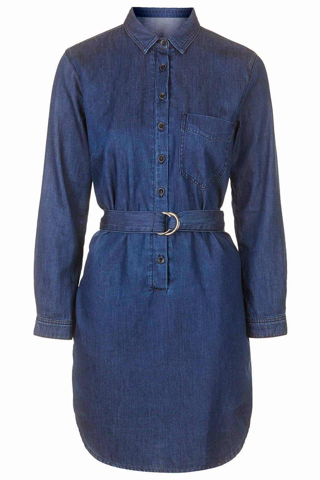 topshop denim dress, denim dress with belt,