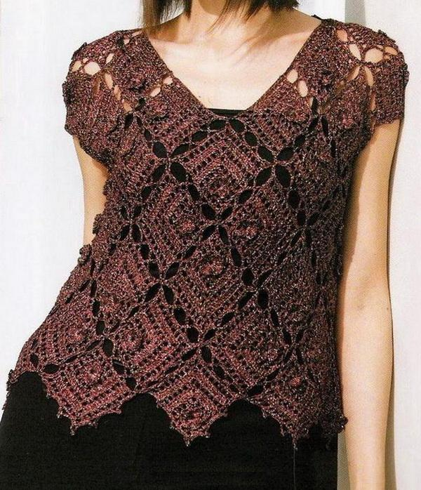 Free Crochet Pattern For Ladies Top : Crochet Sweaters: Crochet Sweater Pattern Free