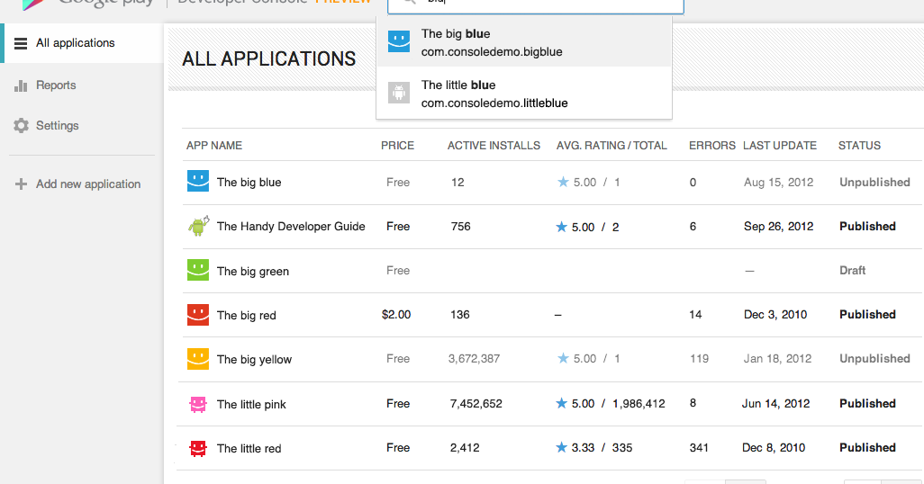 New google play developer console available to everyone android developers blog - Google developer console android ...
