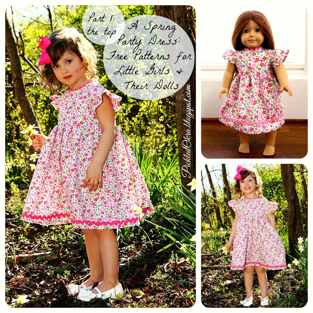 Doll dress sewing pattern