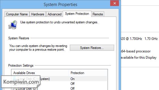cara membuat system restore point baru