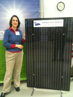 Alicia with a new frameless PV panel