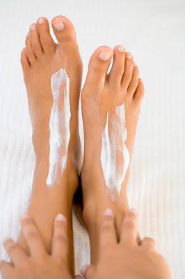 Moisturize with Foot Cream