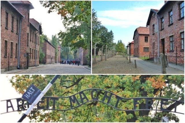 Entrada y edificios del campo de concentración de Auschwitz I
