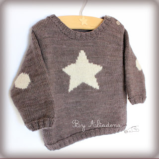 enjoyed designing the little star sweater with little details