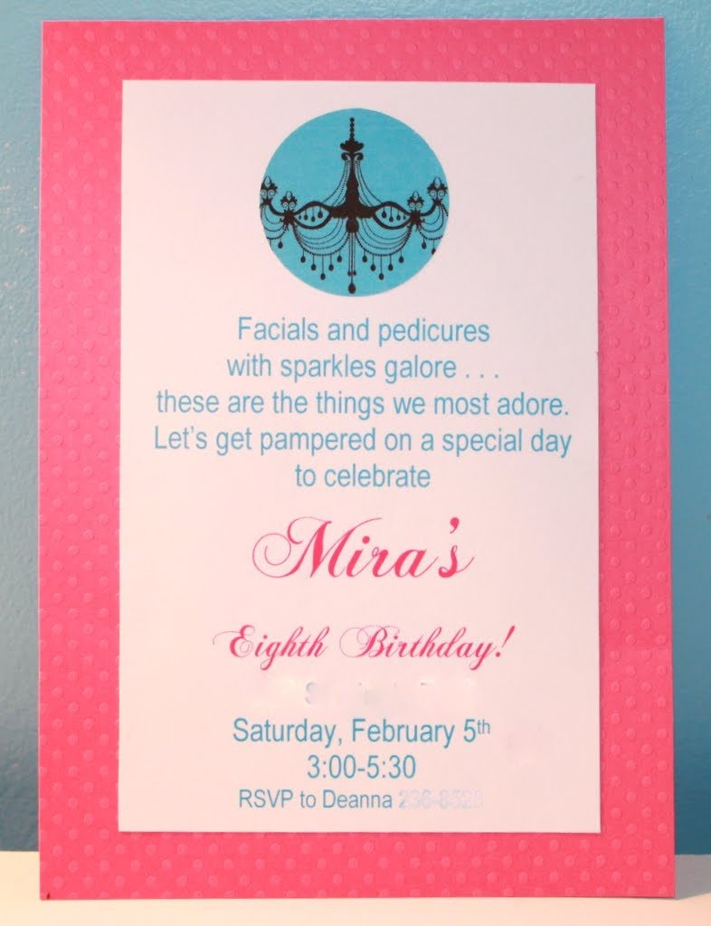 Girly Spa Party - Mira\'s 8th Birthday - Mirabelle Creations