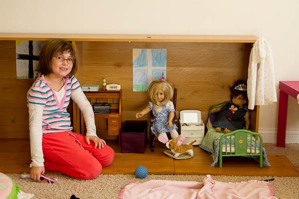 glue and paper: ikea shelf hack: american girl dollhouse