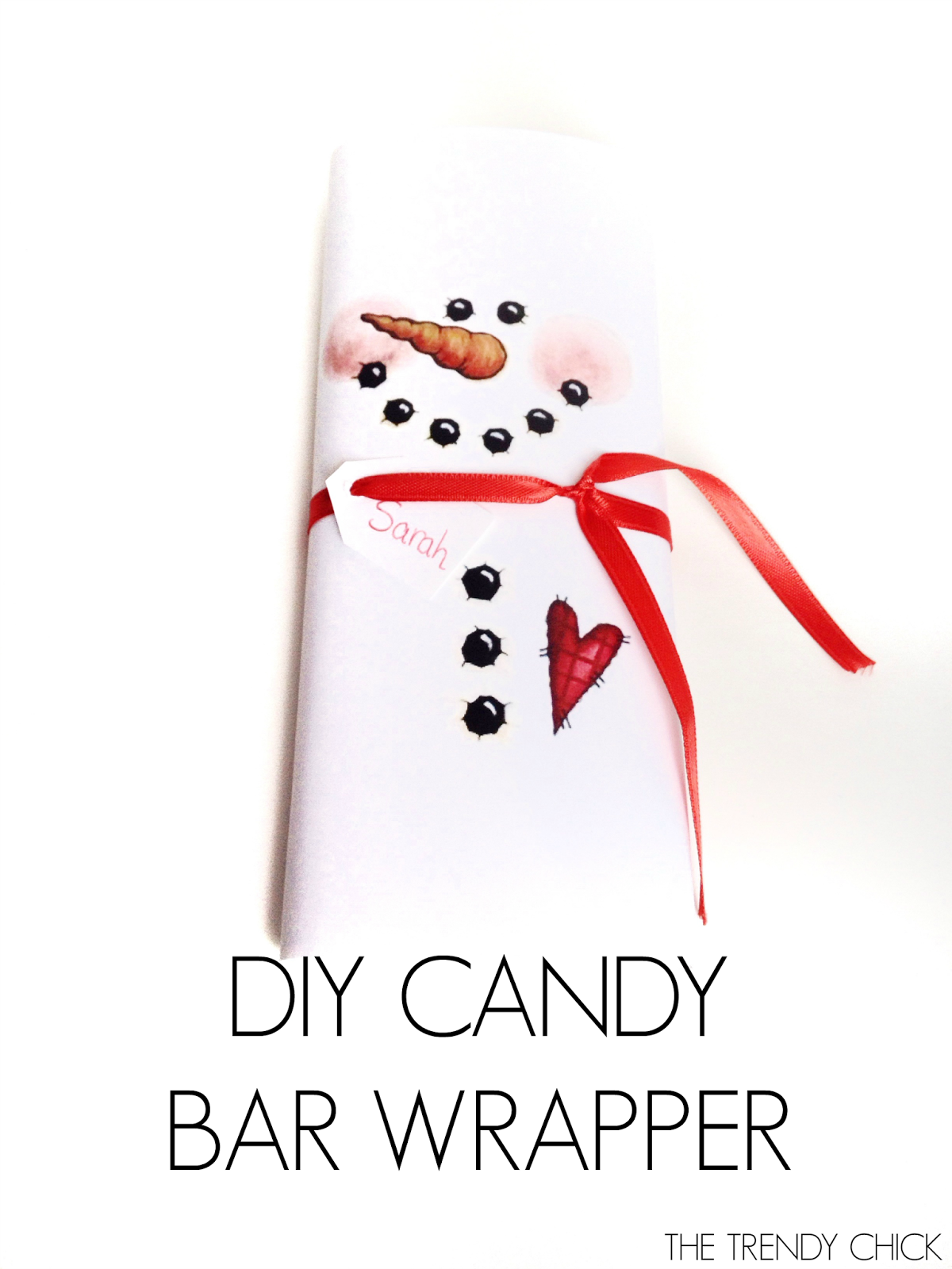 Gargantuan image for snowman candy bar wrapper free printable