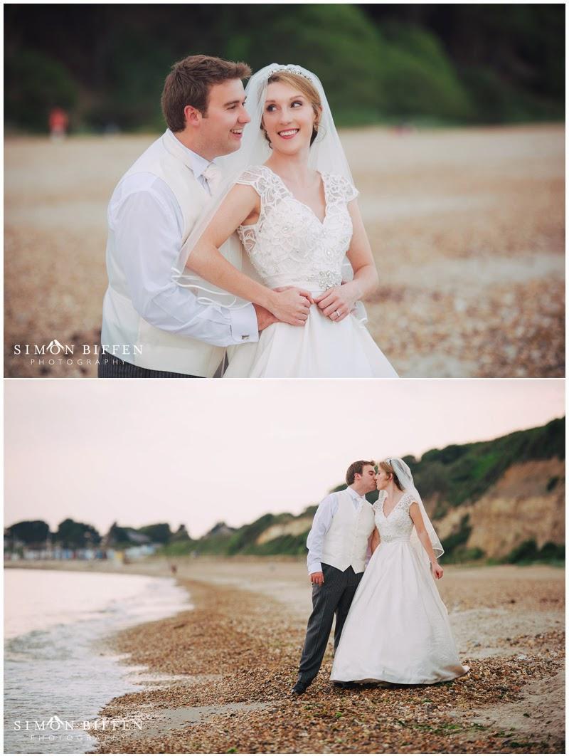 Wedding photography beach at Highcliffe Castle
