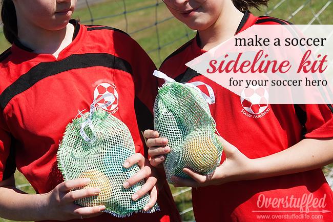 Easy mesh snack kit for your little soccer stars!