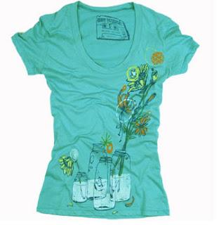 women jar flower tee t shirt