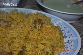 Rice, beef palao, mutton palao, pilau