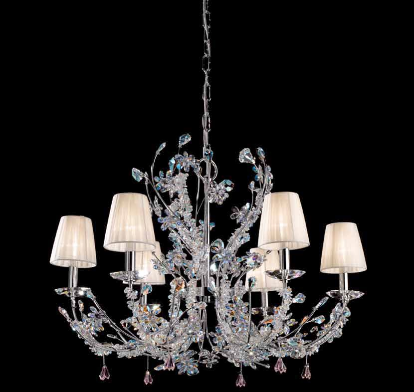 Elegant Swarovski Strass Boreale Chandelier Prearo Top Class light collection ARES