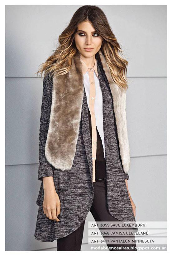 Sacos de mujer moda otoño invierno 2015 Mab.