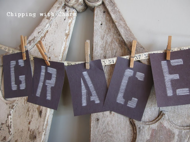 Chipping with Charm: Amazing Grace vignette...http://www.chippingwithcharm.blogspot.com/