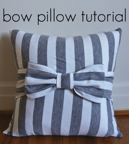 How To Make Cute Decorative Pillows : bow pillow tutorial