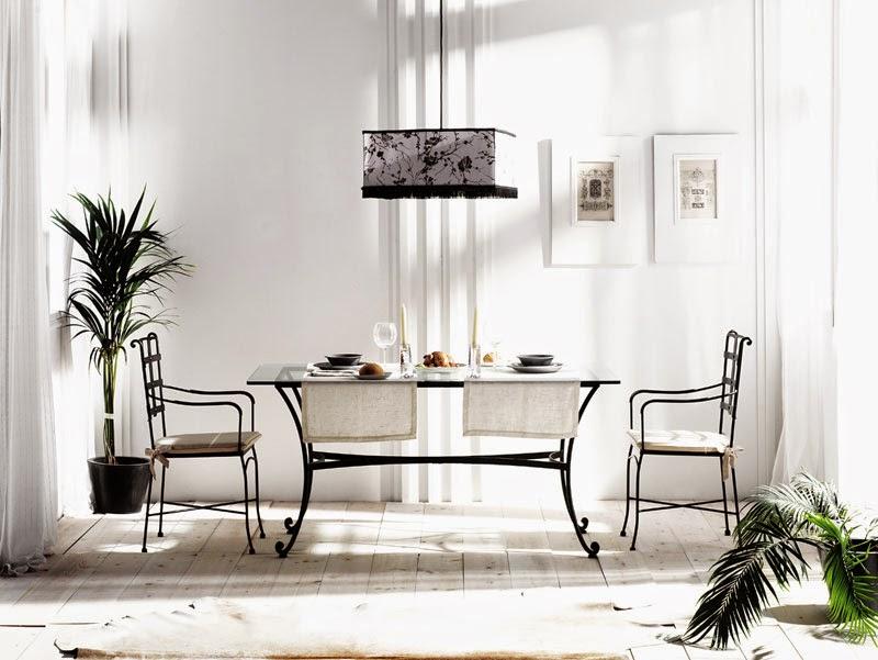 Muebles de forja mesas comedor para interior y exterior for Mesas de comedor para exterior