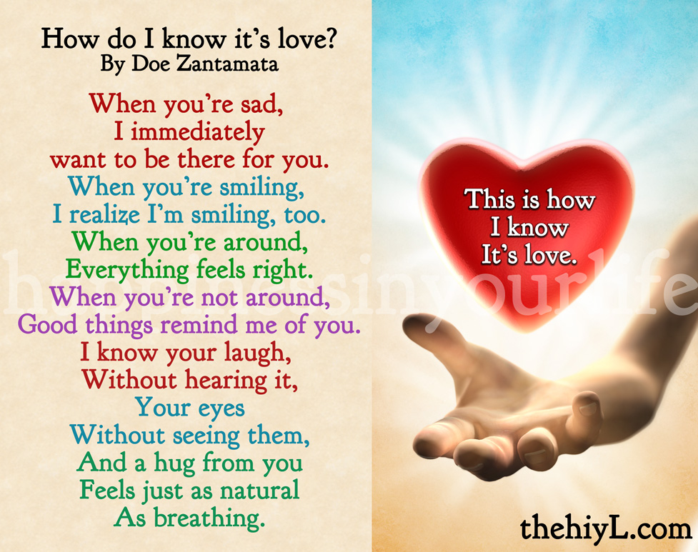 How do know when your in love
