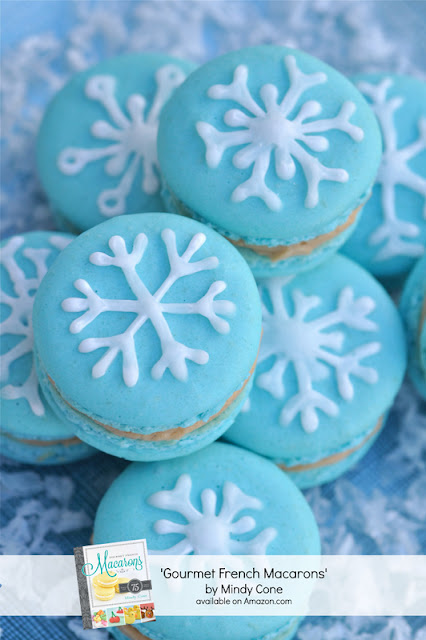 Creative Juice's Gourmet French Macarons book snowflake macarons